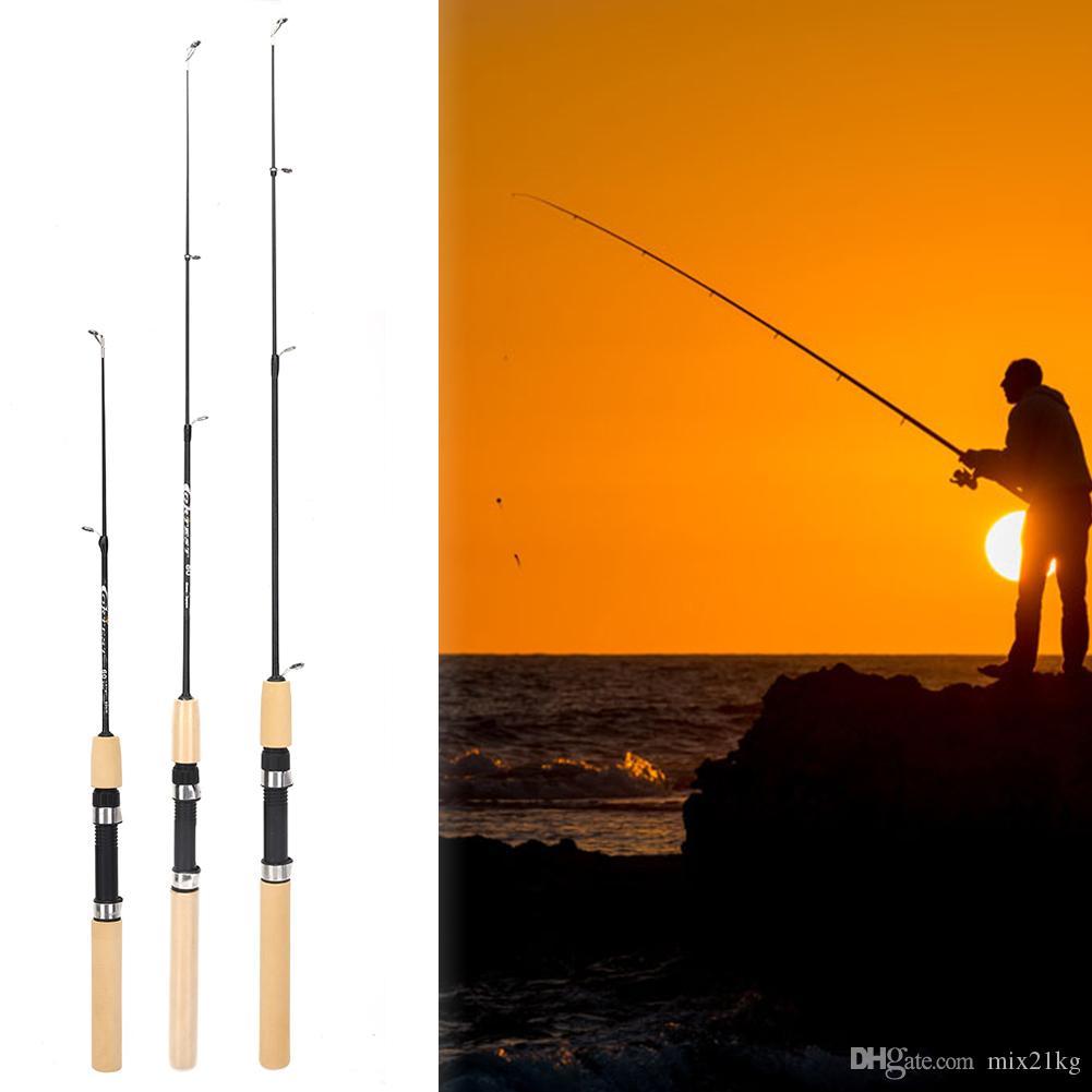 75 سنتيمتر طول المحمولة الروبيان الجليد الصيد القطب المحمولة خفيفة الوزن الصيد معالجة إغراء قضبان الصيد أدوات الصيد pesca