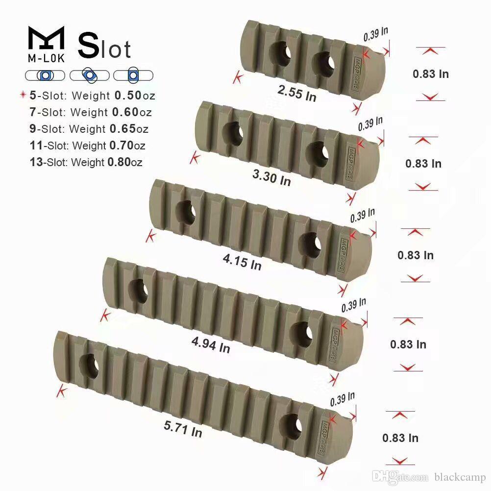 5 قطعة / المجموعة التكتيكية الادسنس بوليمر picatinny السكك الحديدية M-LOK ل نطاق الليزر handguard