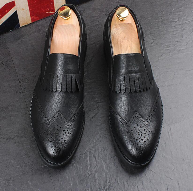 Acquista Scarpe Uomo Nappe In Pelle Brogue Oxford Uomo 2019 Scarpe Da Balletto Classico Italiano Calzature Maschili Scarpe Eleganti HX7 A $30.15 Dal