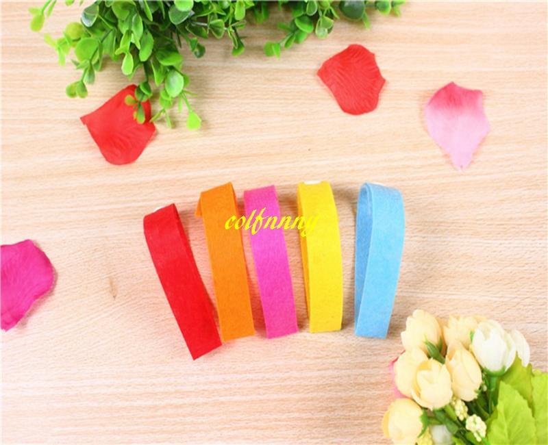 1000pcs / lot expédition rapide vente chaude tissus non tissés anti-moustique Bracelet antiparasitaire répulsif couleurs aléatoires