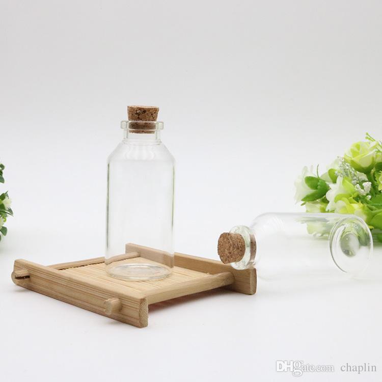 30 ml küçük Mini cam şişeler Flakon kavanoz mantar Tıpalar ile 30 ml 30x70x12. 5mm mesaj düğün istek Takı Parti Iyilik