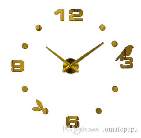 Novo hot frete grátis venda de quartzo relógio de parede tranquila interessante 3d diy home decor relógios numeral romano arte adesivos único