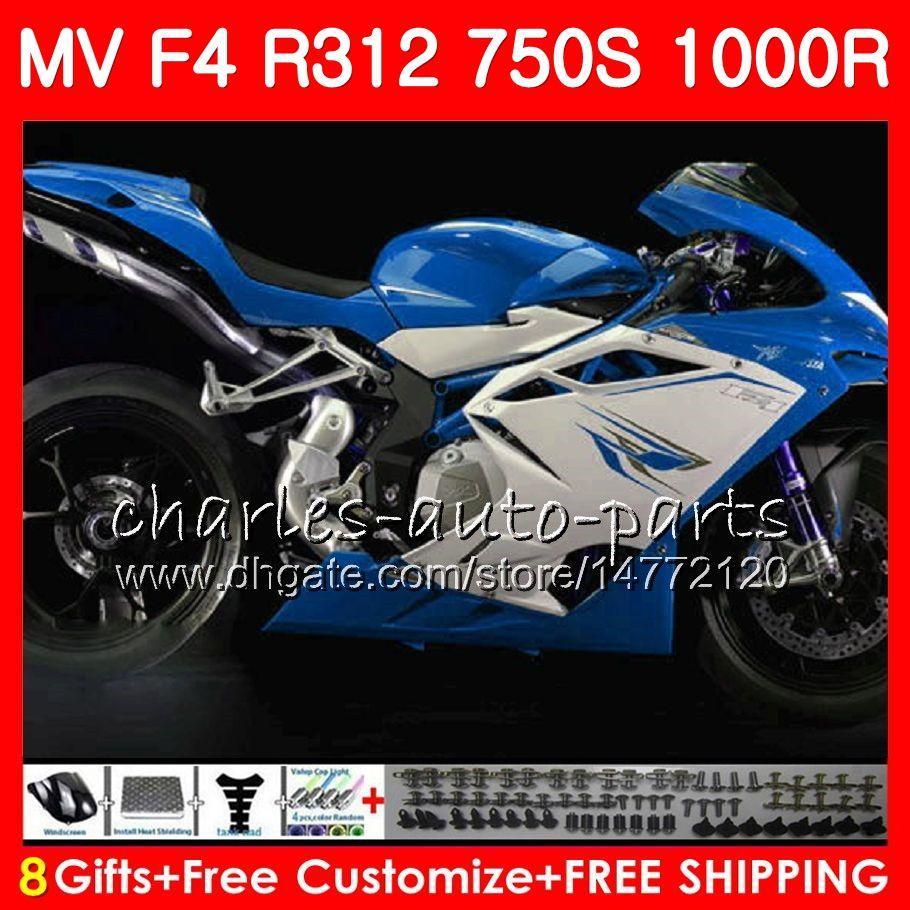 Nadwozie dla MV Agusta F4 S 1000R 312 1078 1 + 1 750 1000CC 05 06 102H41 750 R312 750S stock niebieski 1000 r MA MV F4 2005 2006 05 06 Owalnia