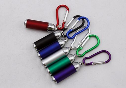 CALIENTE Mini Llavero Llavero linterna telescópica pequeña linterna regalo led linterna de montañismo hebilla lumen linterna al aire libre