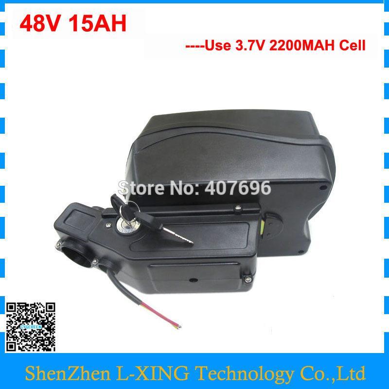 Бесплатные таможенных пошлин 750Вт 48В 15ah литий батарея 48volt регулятор электровелосипедов использовать батареи 3.7 V 2200mAh тип клетки: 20А БМС 54.6 В 2A зарядное устройство