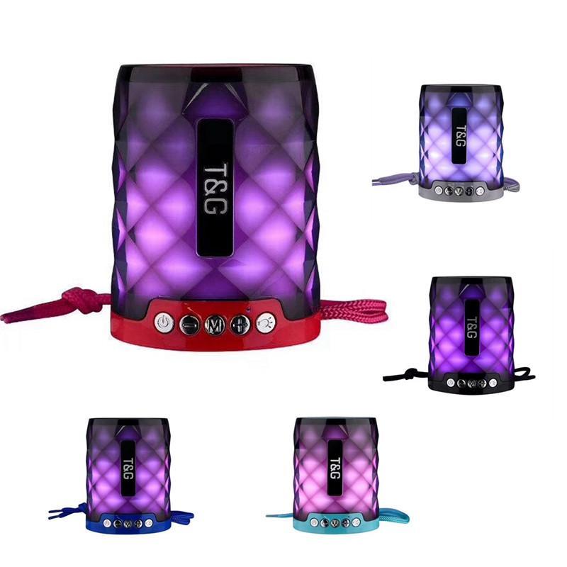 LED-Licht Lautsprecher Bluetooth 5W Hupe Power 600mAh letzten lange Zeit Musik-Player Unterstützung FM / AUX-Modus TF-Karte Freisprecheinrichtung Lautsprecher