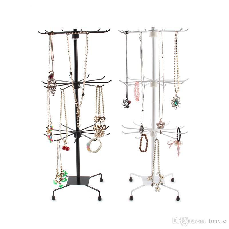 2020 Tonvic White Black Metal Rotating Handbag Chain Bracelet Necklace Holder Stand Rack For Jewelry Supermarket Display From Tonvic 28 75 Dhgate Com