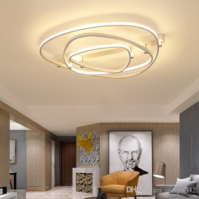 Study salon sypialnia nowoczesne lampy sufitowe LED AC85-265V Home Deco Lampy sufitowe Lamparas de Techo