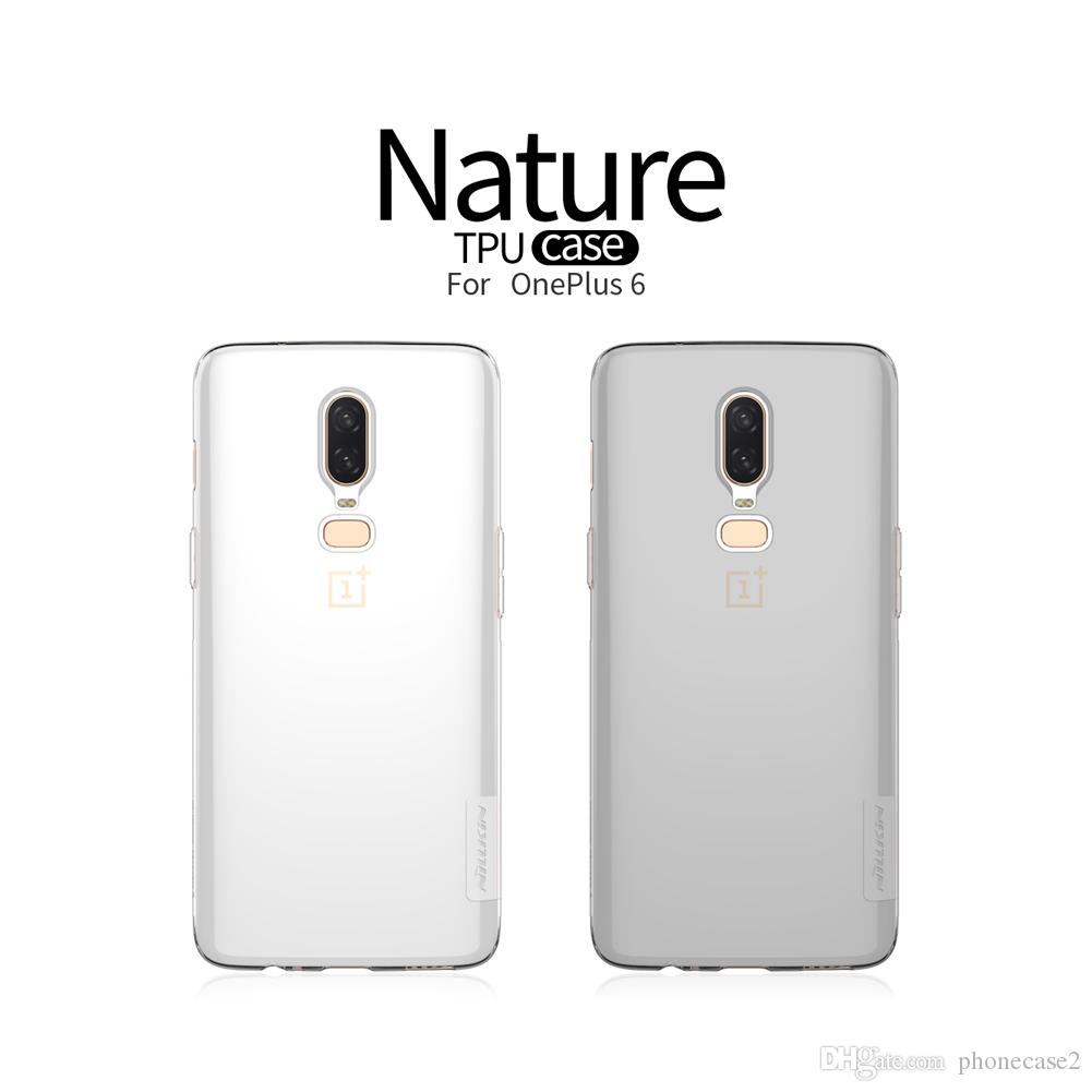 best website 28694 1e56e Oneplus 6 Case TPU Oneplus 5T Case NILLKIN Nature Transparent Clear Soft  TPU Luxury Back Cover For One Plus 6 5 5T 3T Cell Phones Cases Custom Cell  ...