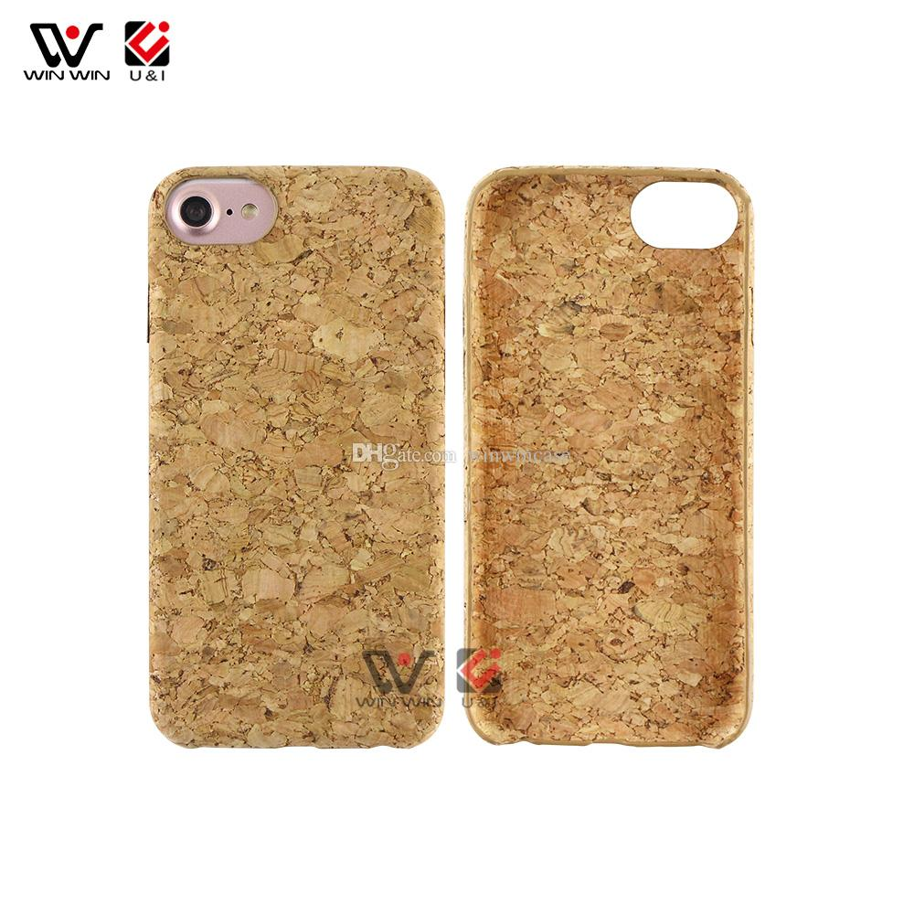 Eco Cork Wood Blank Back Custom Design Wooden Mobile Phone Case For iPhone 6 7 8 Plus X XS Max