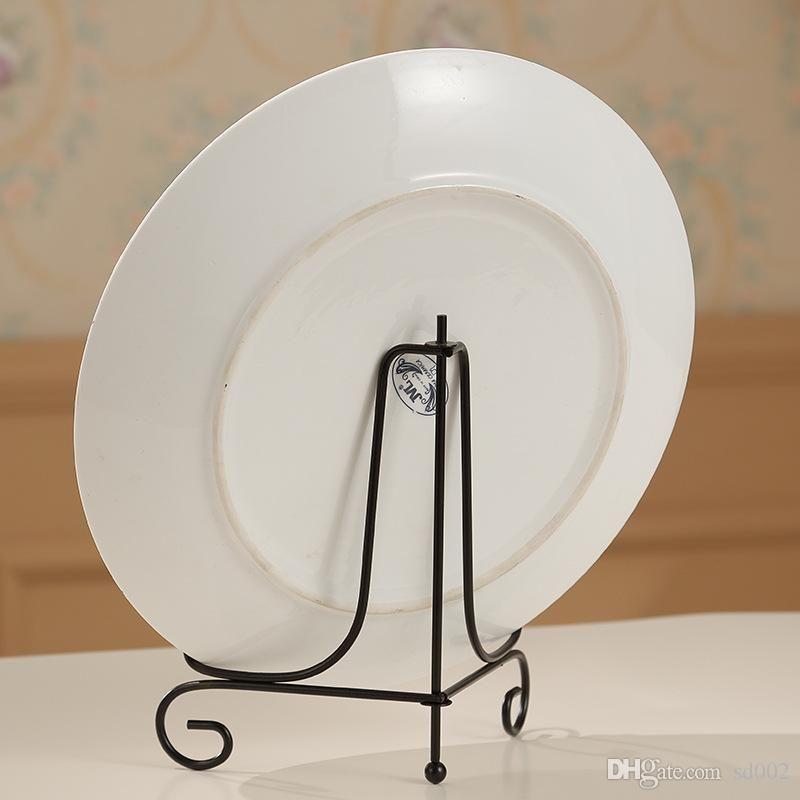 Bardian Plate 디스플레이 홀더 간단한 실용적인 휴대용 금속 브라켓 내구성의 내마 모성 스토리지 지원 최신 신착 품 10as7 dd