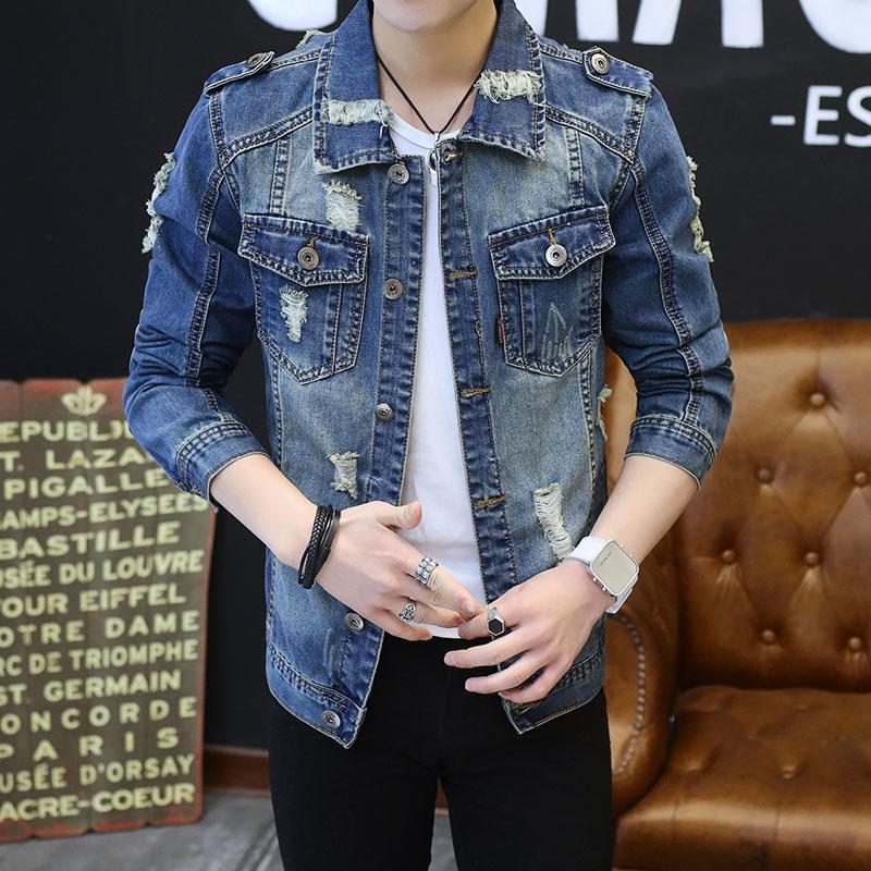 Großhandel Neue Mens Denim Jacke Mantel Männlich Outwear Jaqueta Masculino Jeans Jacke Und Mäntel Fashion Design Frühling Herbst Marke Kleidung 3XL