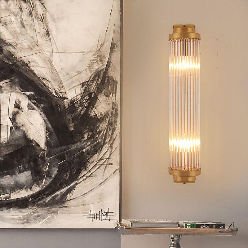 Minimalist Oturma Odası Arka Plan Duvar Lambası Villalar Kulübü Modeli Evler Kişilik Kristal Duvar Işıkları Modern Yemek Odası Banyo Duvar Lambaları