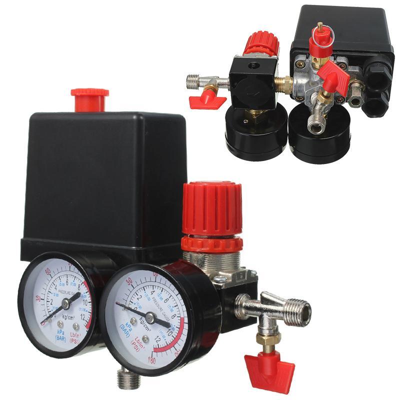 جديد وصول ضاغط الهواء صمام الضغط التبديل المنوع الإغاثة منظم مقاييس 180PSI 240 فولت 45x75x80 ملليمتر تعزيز السعر