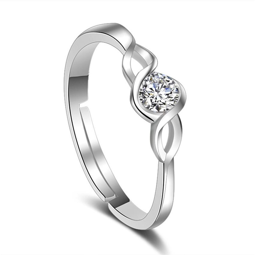 Cubic Zirconia Engagement Ring White Gold Plated Fashion Jewelry Womens Accessories High Quality Rings Mother's Day Gift K106