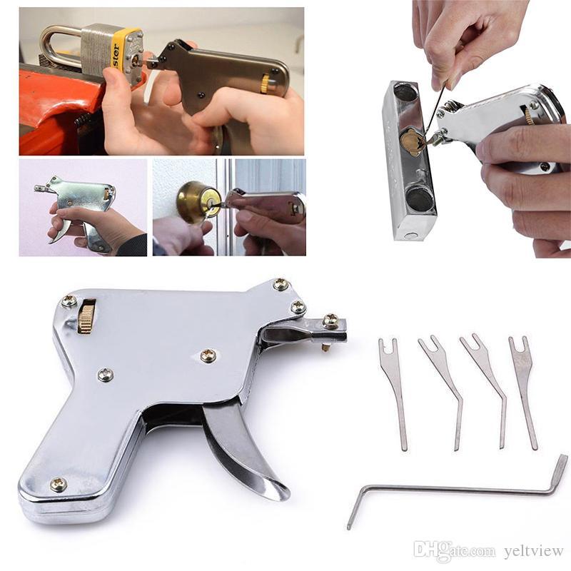 LSL Güçlü KARTAL Kilit Pick Gun Çilingir Araçları Kilit Seçim Seti Kapı Kilidi Açacağı Lockpick Toplama Aracı Bump Anahtar Asma Kilit