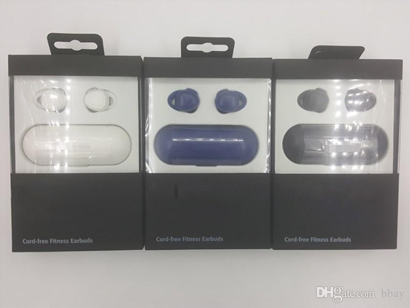 Gang iconx Neue Art und Weise SM-R150 drahtloser Bluetooth Kopfhörer trägt Mini-Bluetooth Kopfhörer mit Gebühr / Aufbewahrungsbox für iOS Samsung DHL frei zur Schau