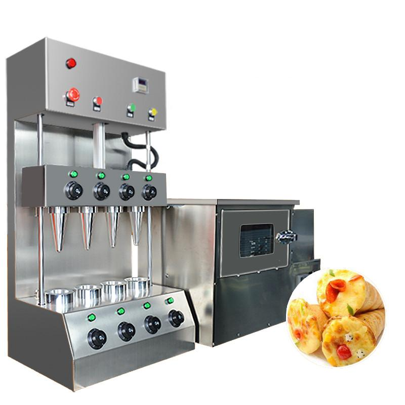 Beijamei cone de pizza comercial de aço inoxidável que faz a máquina forno de pizza elétrica e pizza cone preço da máquina