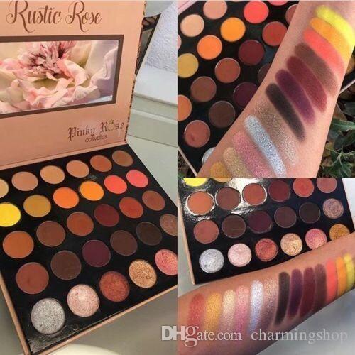 ¡Nuevo llegado! Pinky Rose Cosmetics RUSTIC ROSE Sombra de ojos 30 colores Sombra de ojos Larga duración e impermeable DHL envío gratis rápido