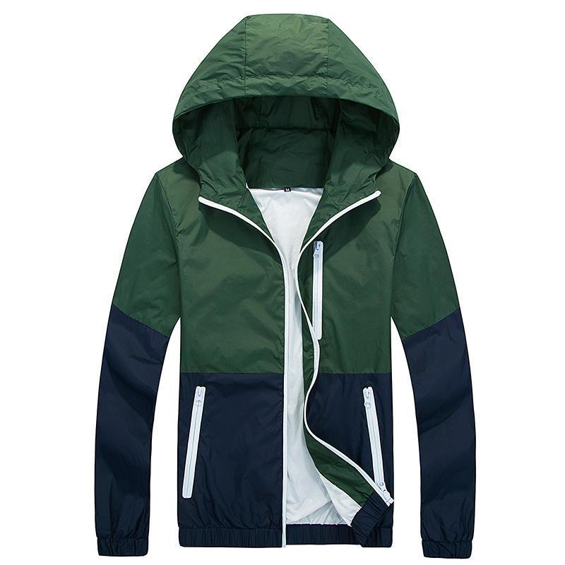 Titmsny Nouveau Mode Printemps et Automne Haute Qualité Manteau Manteaux Hommes Causal À Capuche Veste Mince Coupe-Vent Zipper Manteaux Outwear