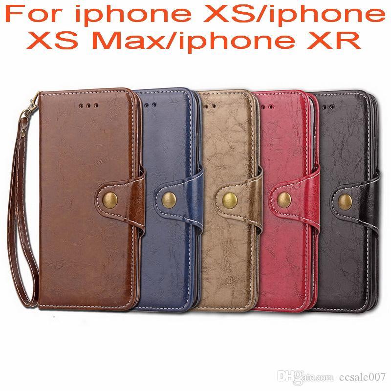 Retro pu deri kılıf için iphone xs max xr xs x için cüzdan standı çevir kapak case iphone xr xs max iş case