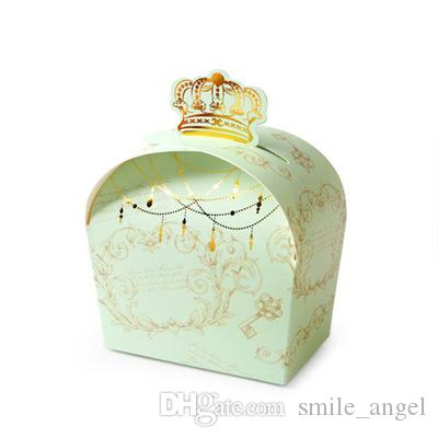 New Wedding Favor Boxes Crown Candy Boxes With Hot Stamping Floral Beautiful European Elegant Sweety Boxes Party Favors