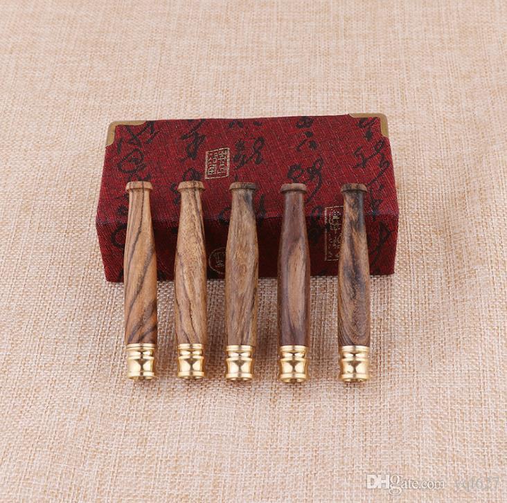 Медная головка тянущая штанга одиночный фильтр из натуральной твердой древесины трубы рот Ситигруп НАН небольшой ручной шлифовальный ремесло подарок держатель сигареты
