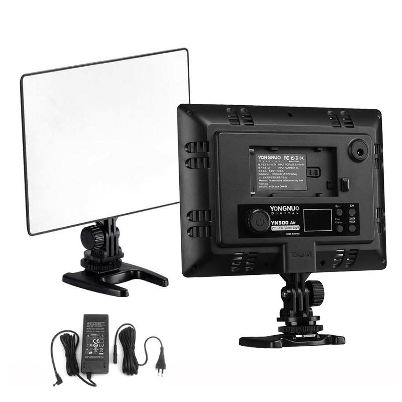 2019 Dslr Yongnuo Yn300 Air Ultra Thin Cri 95 Led Video Light Panel 3200 5500k Color Temperature 2000lm For Canon Nikon Sony Cameras From
