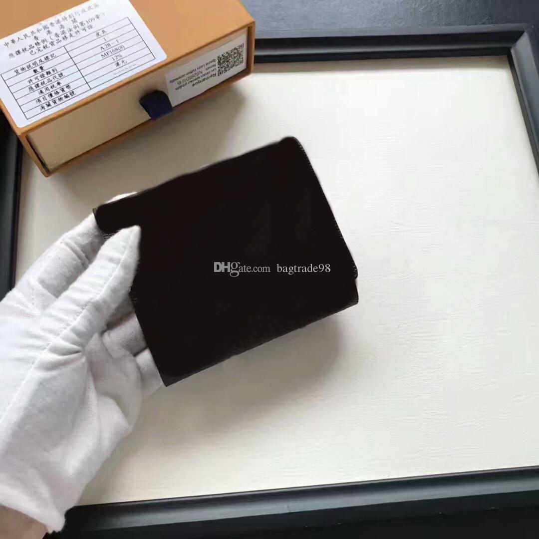 Известный бренд женщины Geniune кожаный бумажник M62920 женщины кошельки мужчины карты с коробкой короткие монеты кошелек сумки GC40