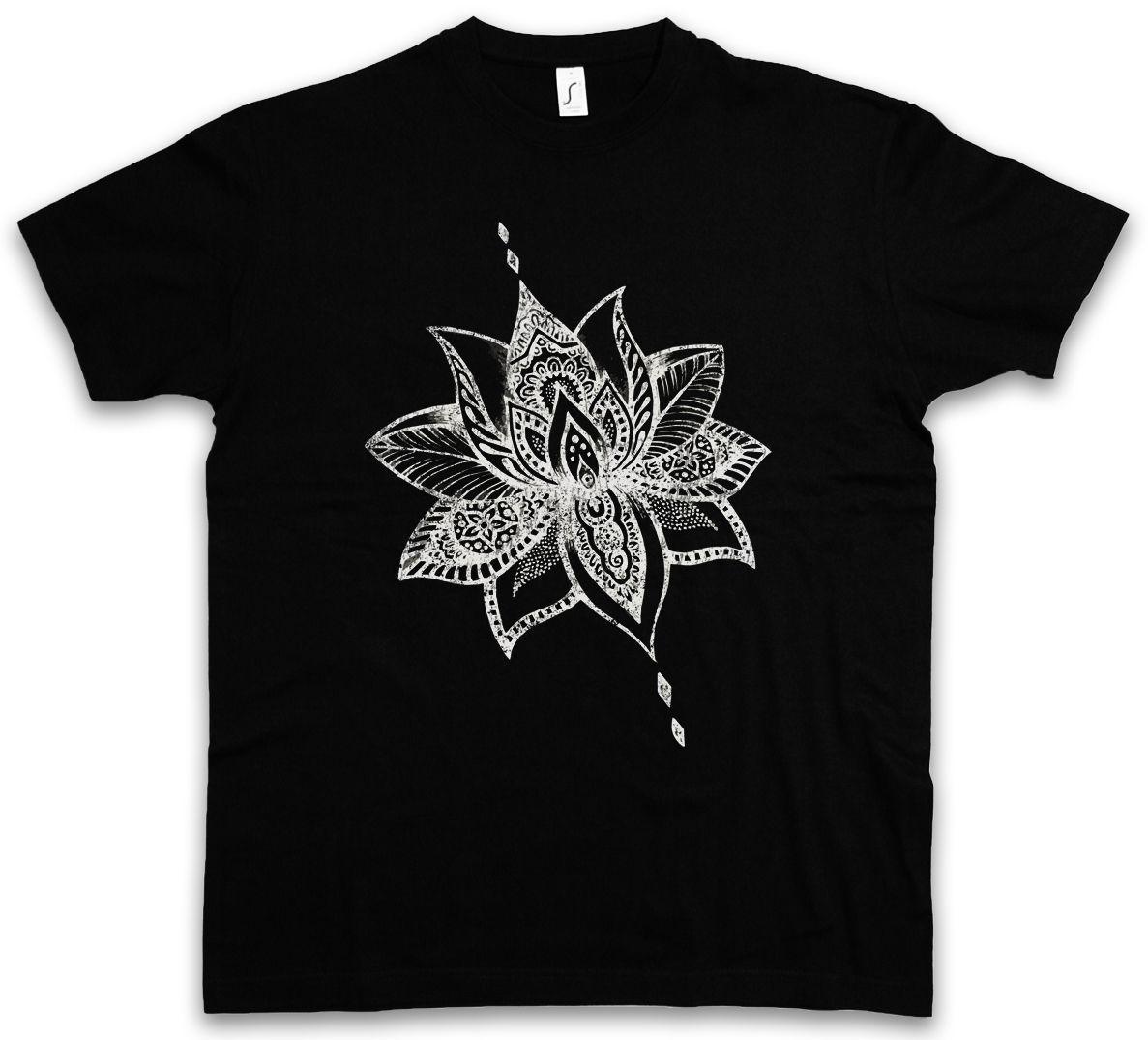 TATTOO FLOWER T-SHIRT Plantas Art Tattooist Studio Artista Plantas Flores