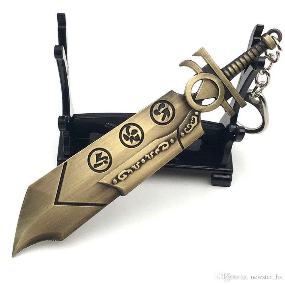 LOL 게임 무기 금속 열쇠 고리 열쇠 고리 전설의 리그 칼 총 롤 무기 펜던트 열쇠 고리 열쇠 고리 아연 합금 열쇠 고리 100PCS