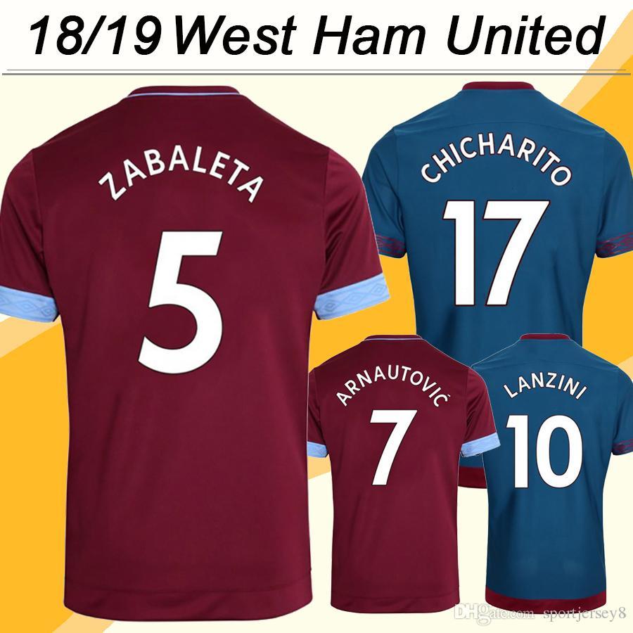 huge selection of 6bda0 e2041 2019 2018 19 West Ham United CHICHARITO Soccer Jerseys ZABALETA ARNAUTOVIC  Home Away Mens Football Shirts CARROLL NOLE LANZINI Short Uniforms From ...