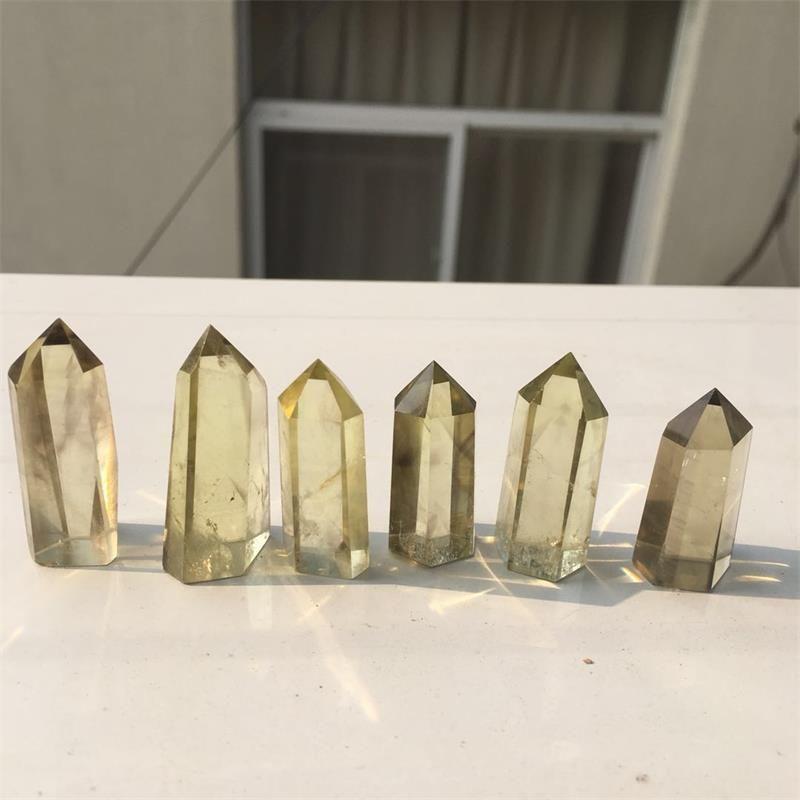 Grosses soldes! Naturel Citrine Quartz Baguette Point Reiki Guérison Pierres naturelles et minéraux en cadeau Livraison gratuite