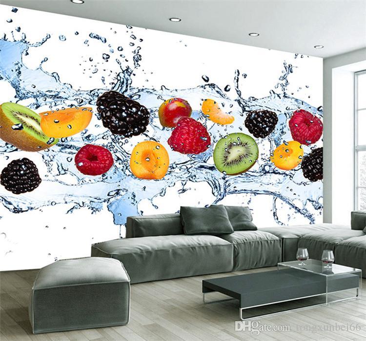 Custom Wall Painting Fresh Fruit Photo Wallpaper Restaurant Living Room  Kitchen Background Wall Mural Non Woven Wallpaper Modern Good Hd Wallpaper  ...