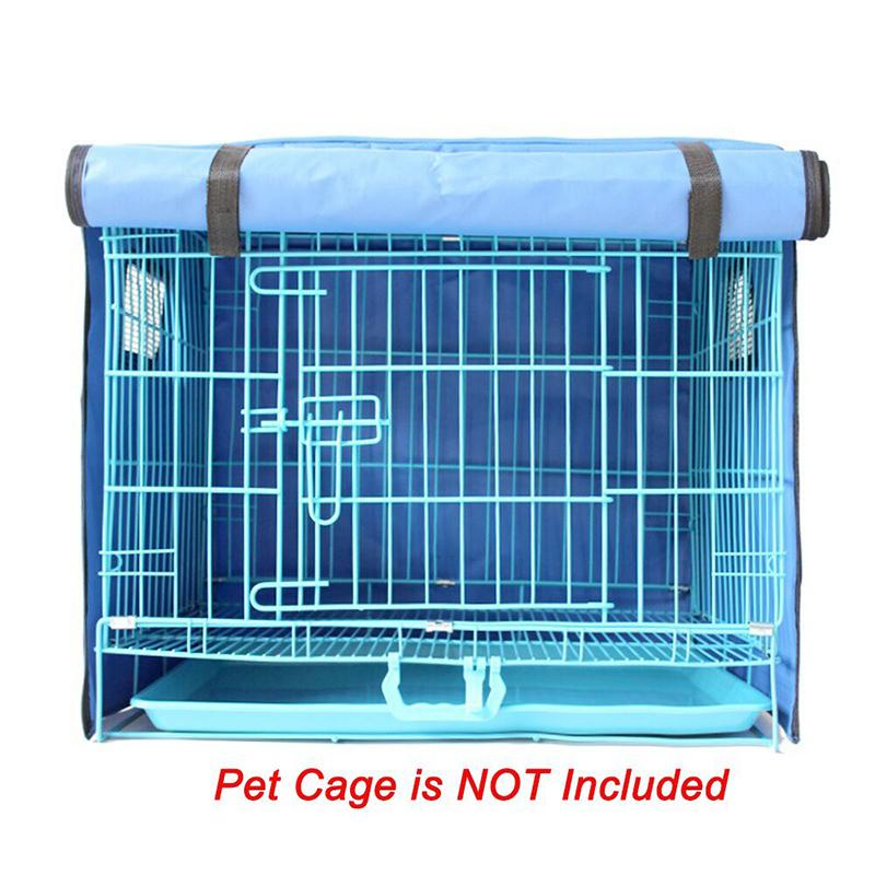 Pet Dog Crate Cover Waterproof and Windproof Oxford Outdoor Kennel Cage Mat for Pet Puppy Cats Cage Blanket 4 Sizes Without Cage