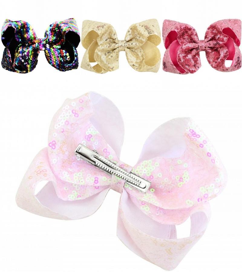 60PCS Bowknot Duckbill Hair Clips Ribbon Bow Hair Accessories Baby Girl Headwear