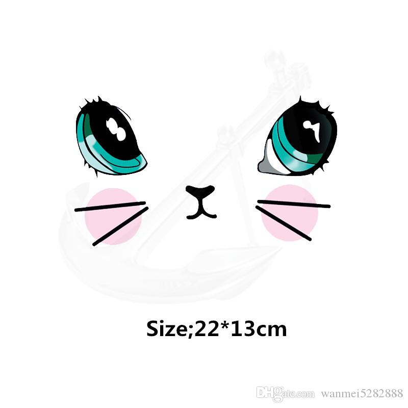 2020 Cute Cartoon Cat Face Child Stickers 22 13cm T Shirt Sweater Thermal Transfer Paper Iron On Patch Patches For Clothing From Wanmei5282888 5 53 Dhgate Com