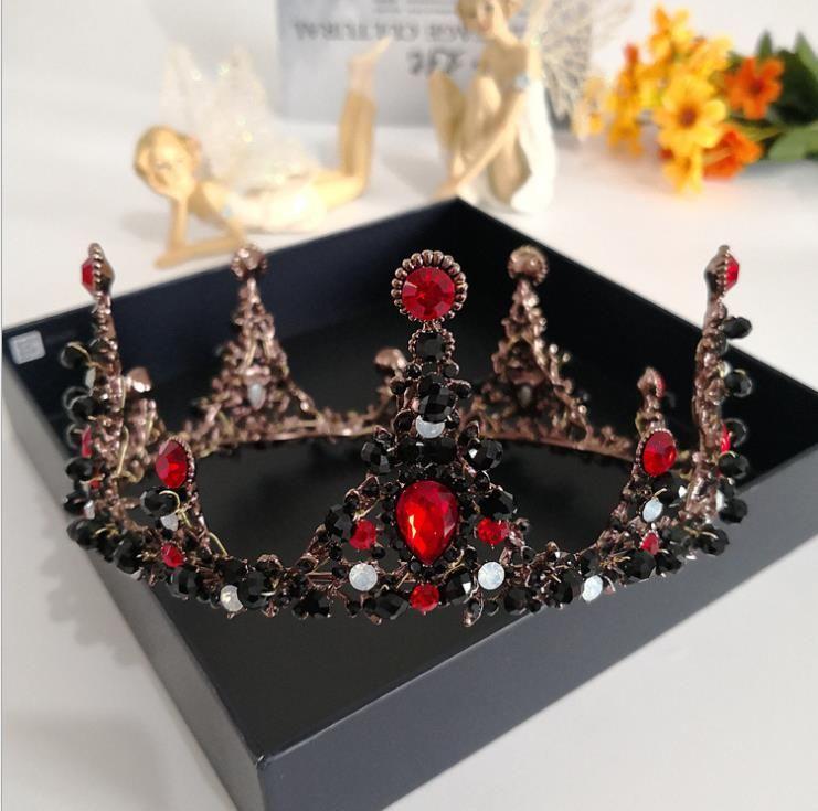 2017 New Baroque crown classic birthday show, big crown, crown, headwear, wedding jewelry.