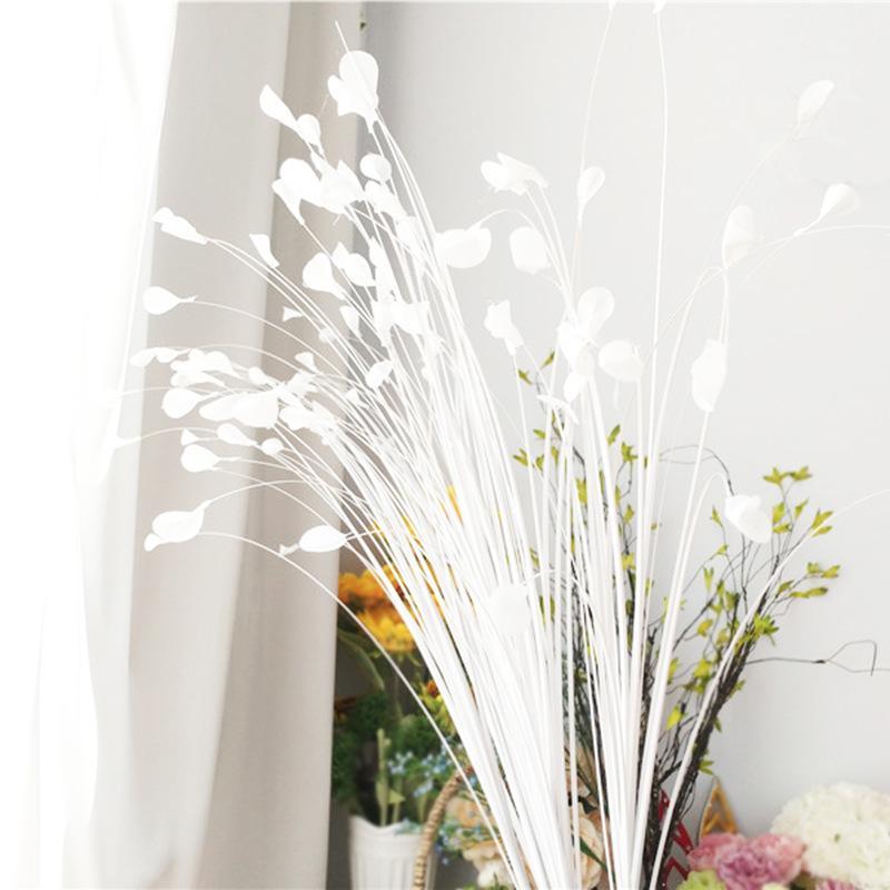 ريد يترك الأبيض الطاووس العشب محاكاة فراشة زهرة T تايوان الطريق الدعائم الزفاف الديكور زهرة ترتيب