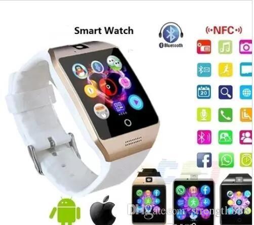 Q18 스마트 손목 시계 카메라와 함께 안 드 로이드 블루투스 GSM 전화 삼성 아이폰