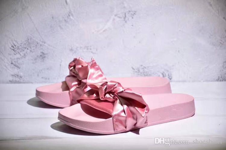 e19442db2a38 Women Slipper Fenty Rihanna Slippers Bow Bandana Slide Slippers Fenty Bow  Slides For Women Indoor Slides With Box and Dust Bags