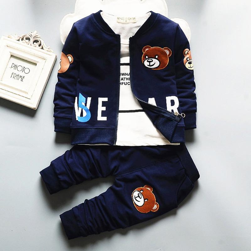 Ubrania dla dzieci jesień chłopiec odzież zestaw dzieci dziewczyny kreskówka 3 szt. Kurtka + koszula + spodnie sport kostium ustawiony dzieciak chłopcy dres