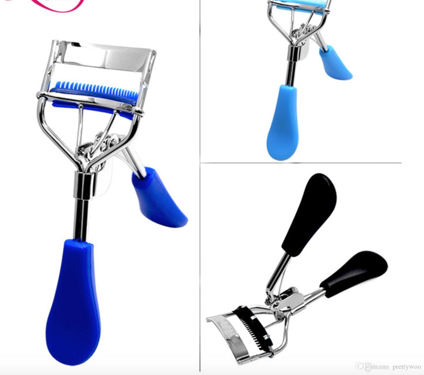 New Arrival Ladies Makeup Eye Curling Eyelash Curler with comb Eyelash Curler Clip Beauty Tool Stylish Wholesale