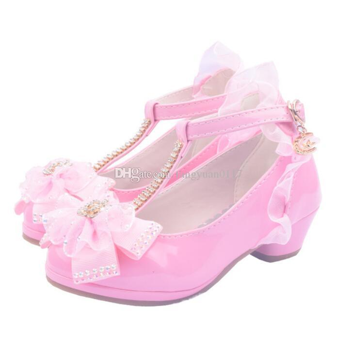 Children Party Leather Shoes Girls PU