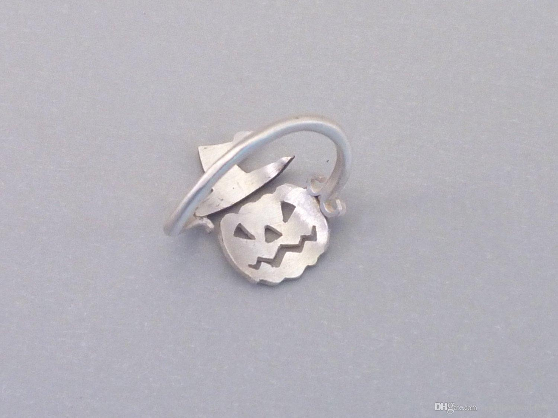 Hot sale new Halloween pumpkin hat ghost ring European festival creativity ring