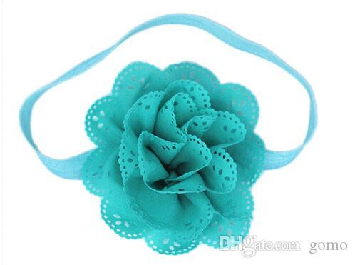 8 Unids Baby Girls Flower Headbands Fotografía diseño caliente 8 colores diferentes chica princesa pelo tiara de flores Apoyos Diadema