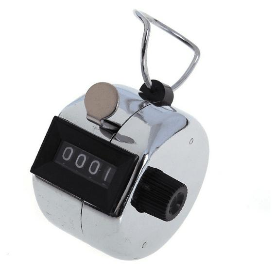 240pcs/lots Tally Counter Hand Held Golf stroke Lap Inventory count - Metal Hot Sale