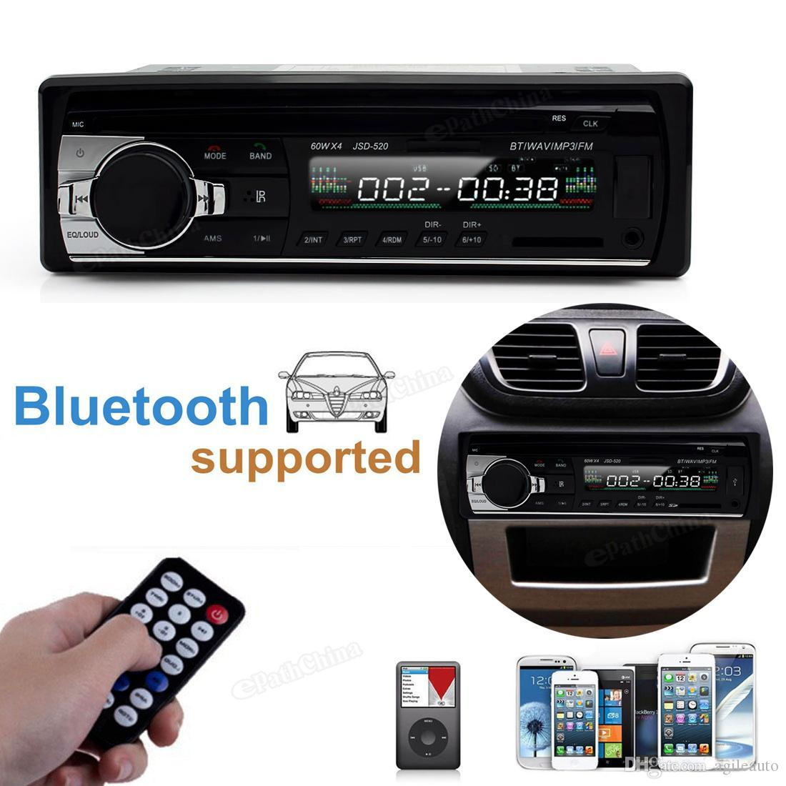 Digital Bluetooth Hands-free Car Stereo Audio MP3 Player USB SD FM with In Dash Slot CEC_815