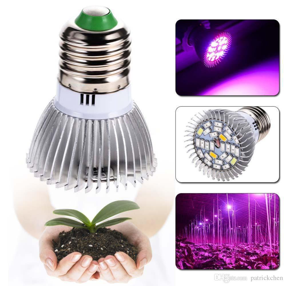 28W E27 GU10 E14 Led Grow Bulb Light 28 LEDs SMD 5730 LED Grow Light Idroponica Impianto Full Spectrum AC 85-265V