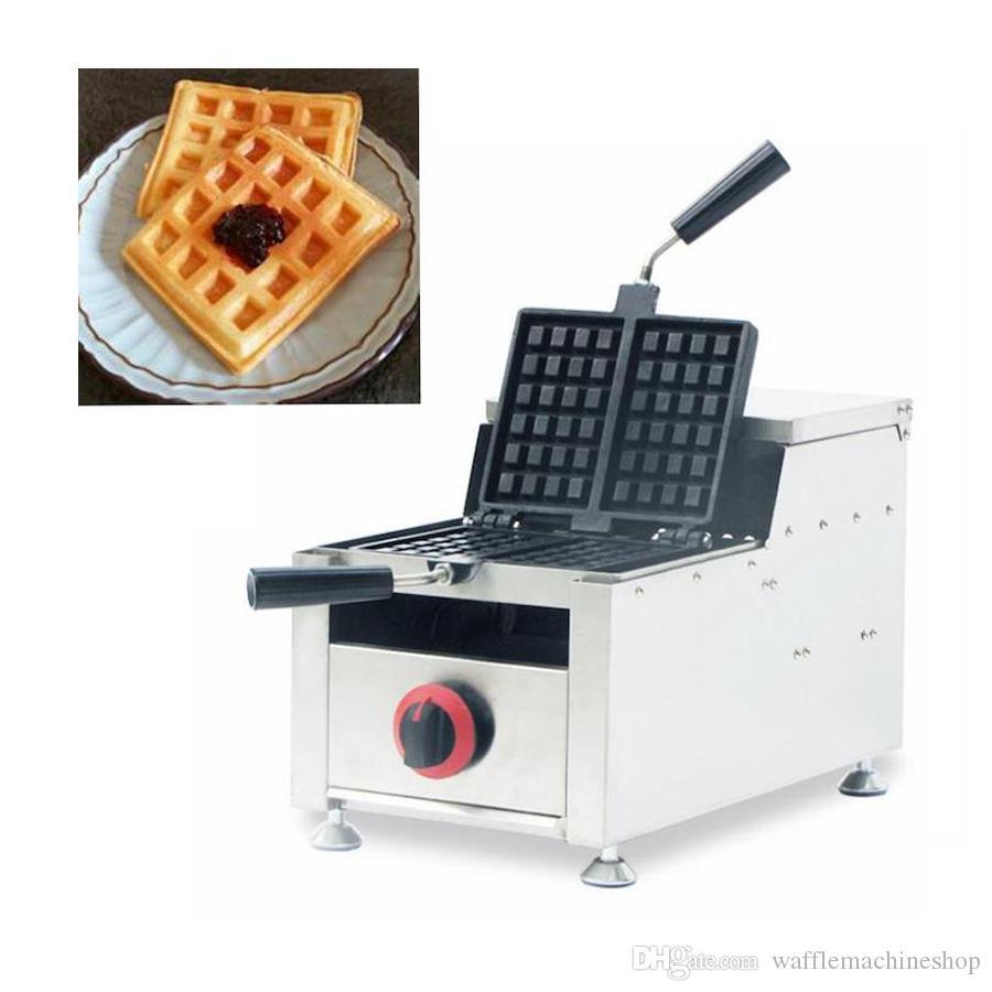 Gaz Döner Waffle Makinesi Makinesi Ticari 2 adet Kare Waffle Makinesi Gaz Waffle Yapma Makinesi Café Restoran NP-611 için